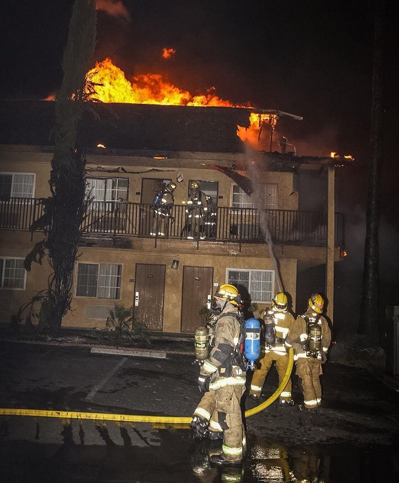 Fire Breaks Out Near I-10 & Hospitality Lane
