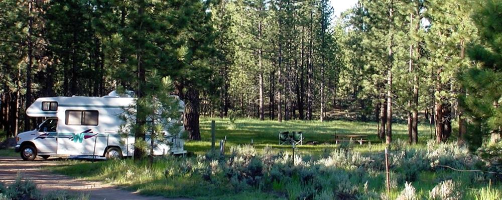 Summer Big Pine Flat Campground